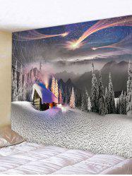 Christmas Snow Forest Pattern Tapestry -