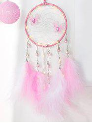 Faux plumes Papillon artificiel Perle Dream Catcher - Rose Cochon