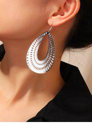 Geometric Hollow Out Water Drop Earrings -