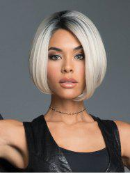 Ombre Straight Bob Synthetic Center Part Wig -