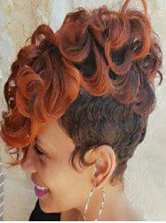 Ombre Curly Short Synthetic Wig -