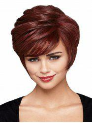 Short Straight Side Bang Synthetic Wig -