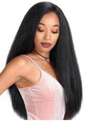 Long Straight Synthetic Side Part Wig -
