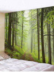 Mist Forest Trail Print Tapestry Wall Hanging Art Decoration -