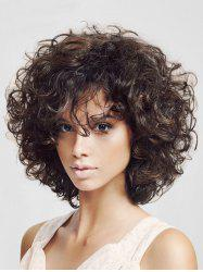 Free Part Fluffy Synthetic Afro Curl Wig -