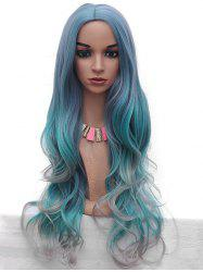 Synthetic Wavy Long Middle Part Colormix Wig -