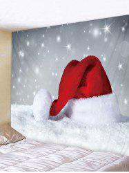 Christmas Hat Snowfield Print Tapestry Wall Hanging Art Decoration -