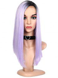 Lace Front Synthetic Ombre Side Part Long Straight Wig -