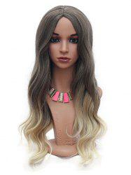 Long Body Wave Ombre Synthetic Center Part Wig -