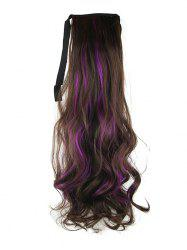 Long Highlights Body Wave Ombre Synthetic Lace-up Hair Piece -