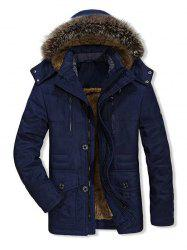 Fuzzy Zip capuche Up Veste polaire Cargo -