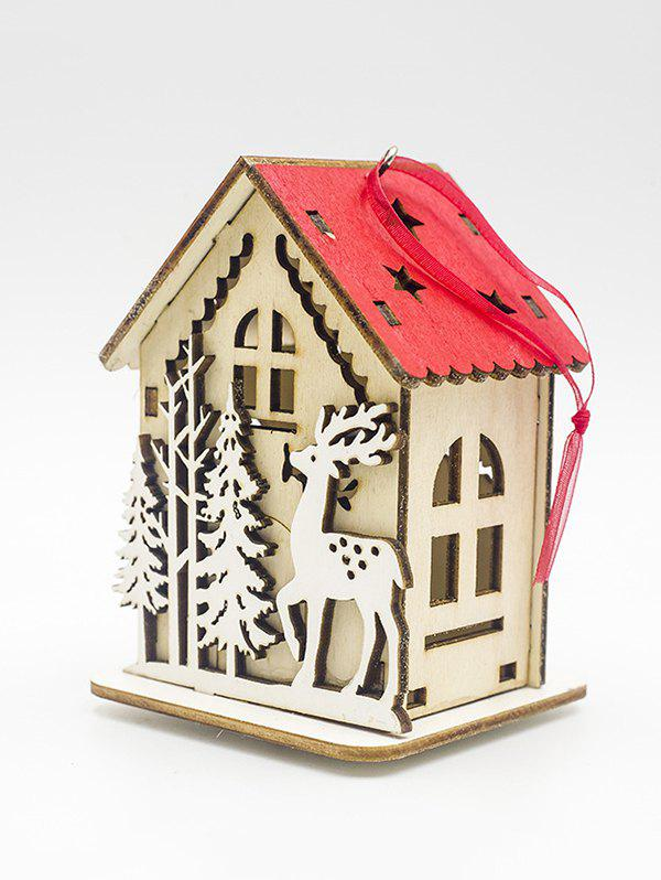 New Christmas Tree Hanging Light Wooden House Decoration