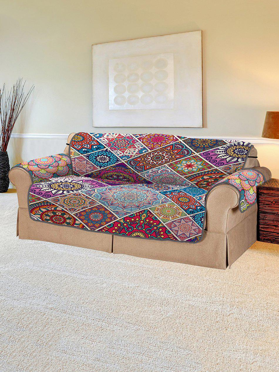 New Christmas Bohemian Patchwork Pattern Couch Cover