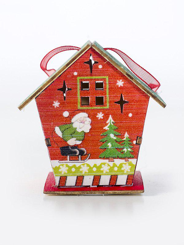 Affordable Christmas Decorations Santa Claus Snowman Elk Pattern LED Light Wooden House
