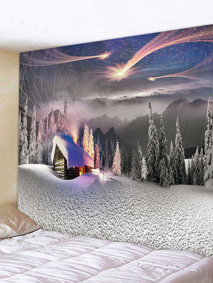 Trendy Christmas Snow Forest Pattern Tapestry