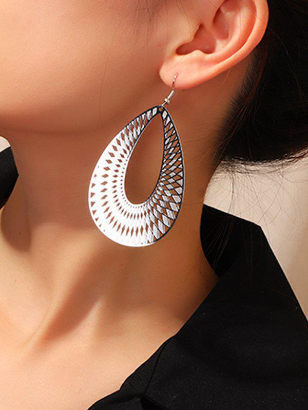 Best Geometric Hollow Out Water Drop Earrings