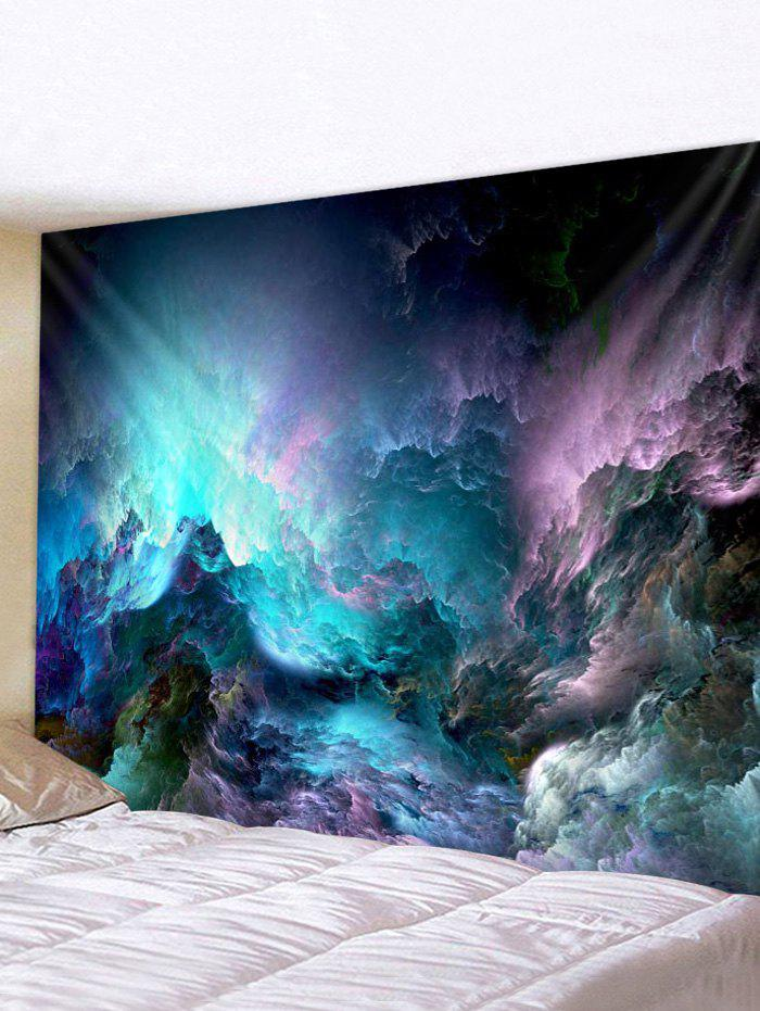 Trendy Abstract Colorful Cloud Print Tapestry Wall Hanging Art Decoration