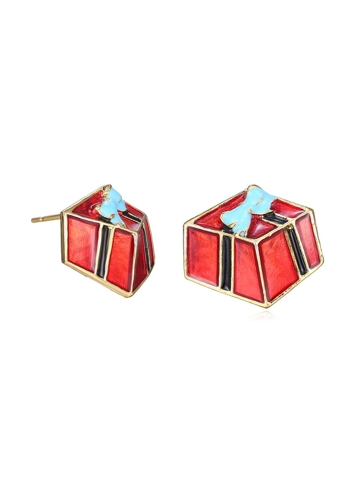 Shop Christmas Gift Glazed Metal Stud Earrings