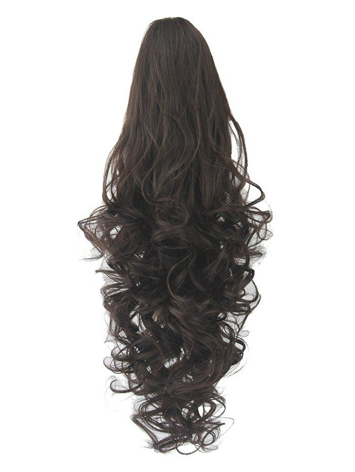 Online Long Deep Body Wave Synthetic Clip-on Hair Piece
