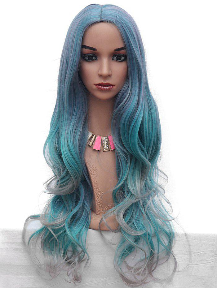 Shops Synthetic Wavy Long Middle Part Colormix Wig