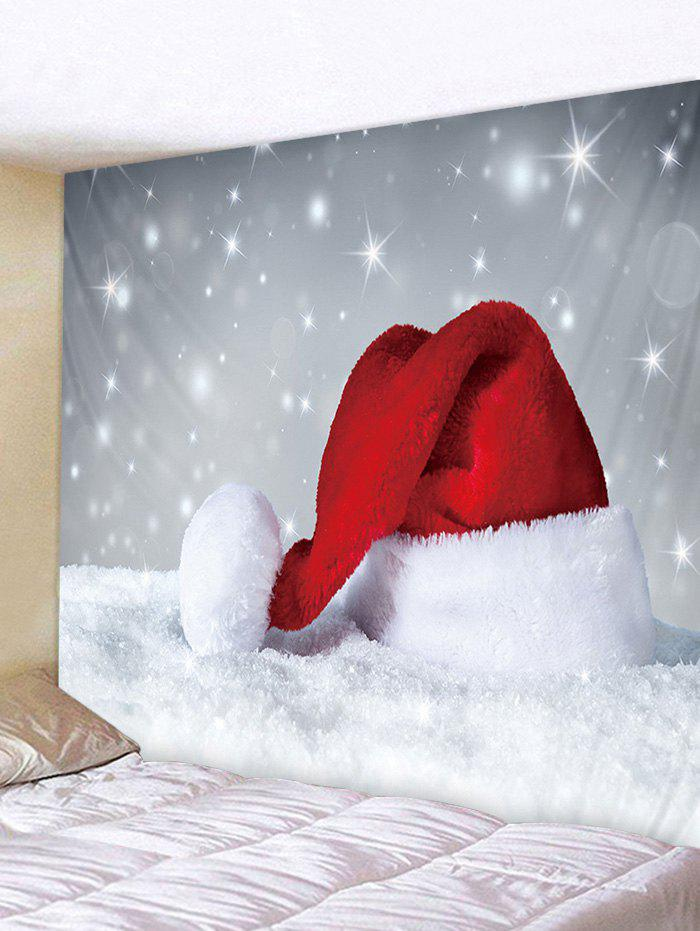 Discount Christmas Hat Snowfield Print Tapestry Wall Hanging Art Decoration