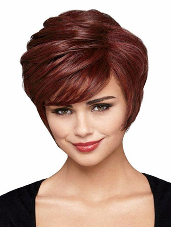 Shop Short Straight Side Bang Synthetic Wig