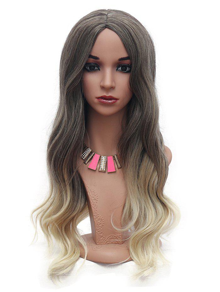 Outfit Long Body Wave Ombre Synthetic Center Part Wig