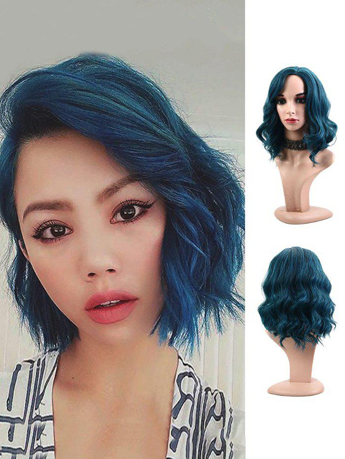 Affordable Synthetic Side Part Wavy Medium Party Wig