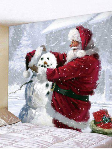 Christmas Santa Claus Snowman Wall Tapestry - from $15.46