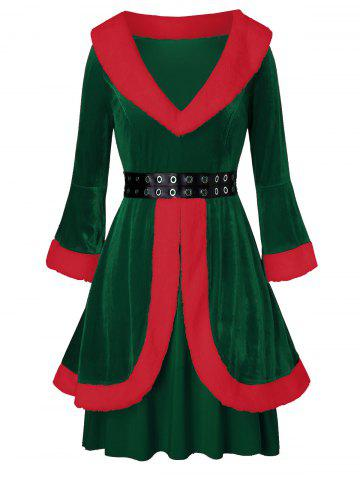 Christmas | Velvet | Claus | Santa | Dress | Plus | Size