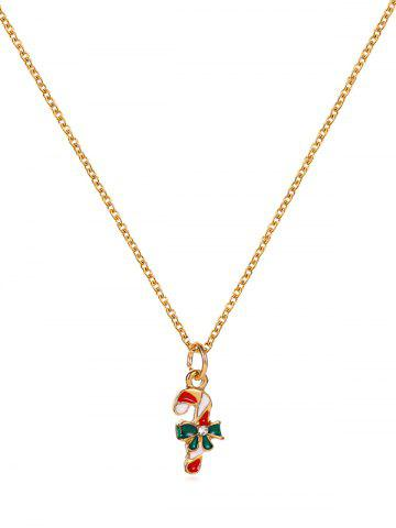 Christmas Pattern Pendant Chain Necklace - from $3.98