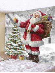 Christmas Tree Santa Claus Wall Tapestry -
