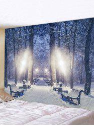 Snow Forest Pattern Tapestry -