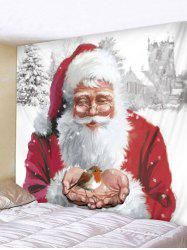 Father Christmas Pattern Tapestry -