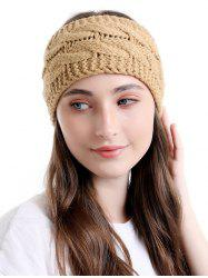 Knitted Twist Wide Headband -