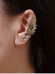 1 Pc Flowers and Leaves Shape Cuff Earring -