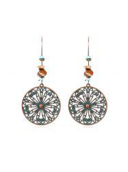 Hollow Out Round Flower Drop Earrings -