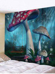 Abstract Mushroom Printed Tapestry -