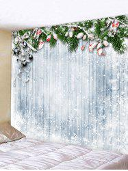 Christmas Snowflake Wooden Printed Tapestry -