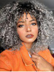 Ombre Afro Curl Synthetic Medium Wig -