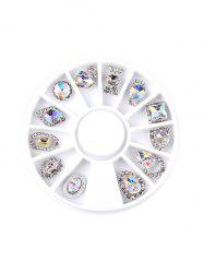 12Pcs Faux Diamond Glitter Nail Decoration -