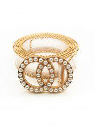 Artificial Pearl Round Shape Beaded Belt -