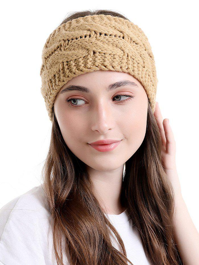 Fancy Knitted Twist Wide Headband