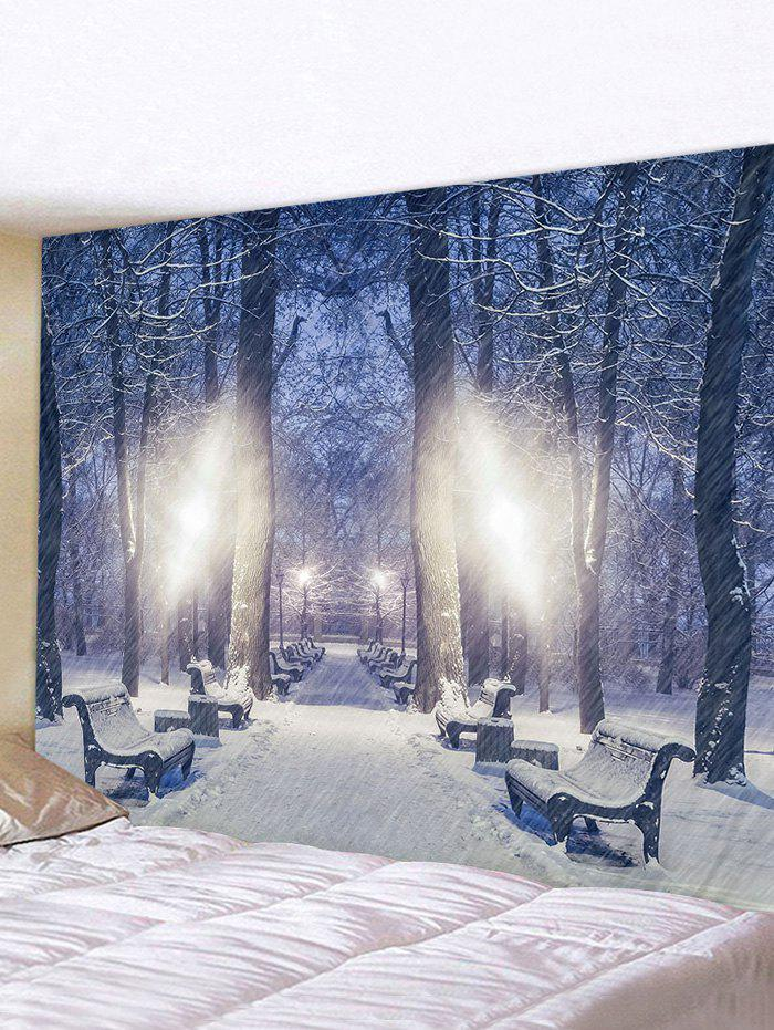 Hot Snow Forest Pattern Tapestry