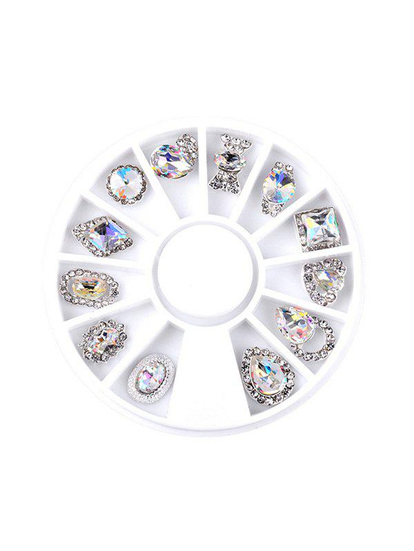 Discount 12Pcs Faux Diamond Glitter Nail Decoration
