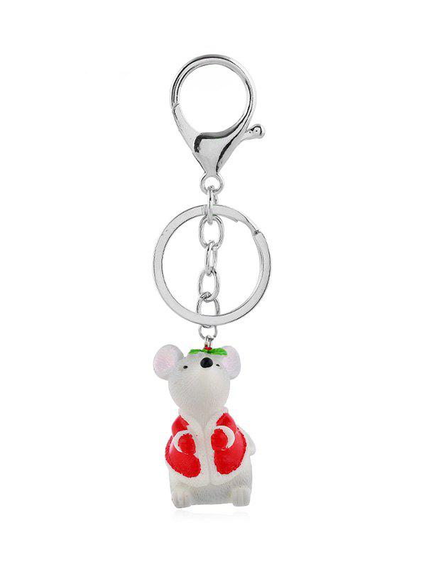 Online Christmas Mouse Pendant Key Chain