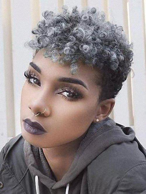 Fashion Mixed Afro Curl Short Synthetic Wig