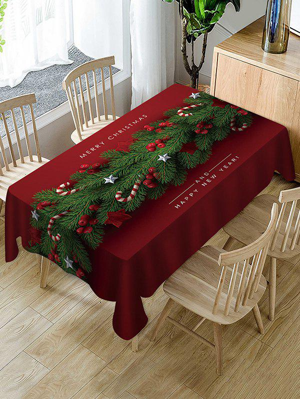 Cheap Merry Christmas Happy New Year Fabric Table Cloth