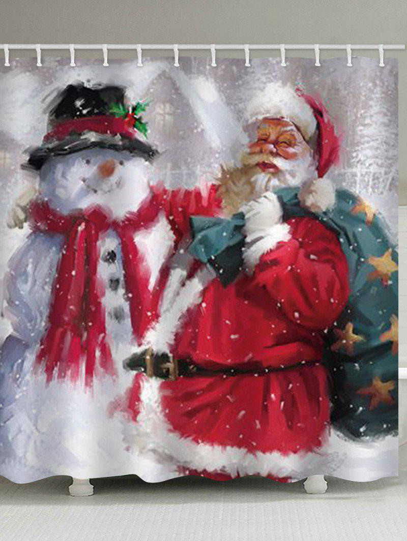 Latest Father Christmas Snowman Waterproof Curtain