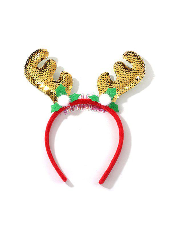 Affordable Christmas Elk Antlers Sequins Hair Band